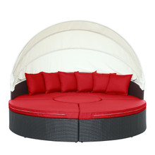 Quest Canopy Daybed in Espresso Red