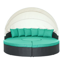 Quest Canopy Daybed in Espresso Turquoise