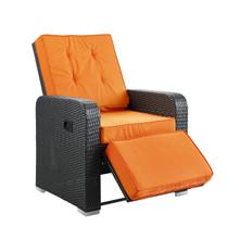 Commence Patio Armchair Recliner in Espresso Orange