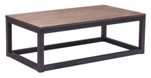 Civic Center Coffee Table, Brown Metal Wood