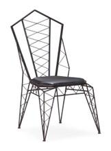 Heavy Metal Chair, Black  Metal (set of two)