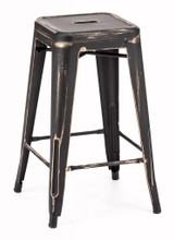 Marius Counter Stool, Black  Steel (set of two)