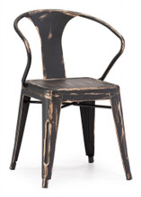 Helix Chair, Black  Steel (set of two)