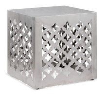 Kailua Stool, Silver Stainless Steel
