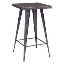 Olympia Bar Table, Gunmetal, Silver  Steel