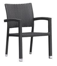 Boracay Dining Chair, Brown  Aluminum Frame (set of two)