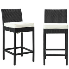 Lift Bar Stool Set of 2 in Espresso White
