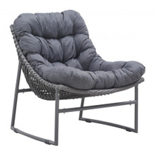 Ingonish Beach Plush Cushioned lounge Chair, Grey