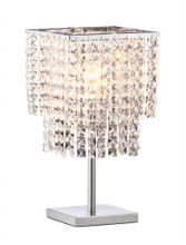 Falling Stars Table Lamp, Chrome Crystal