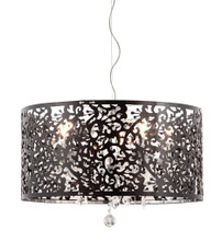 Nebula Ceiling Lamp, Black Acrylic Chrome