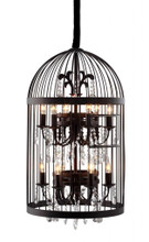 Canary Ceiling Lamp, Rustic Glass Crystal Metal