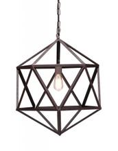Amethyst Ceiling Lamp, Small Rustic Metal