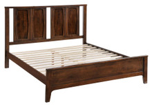 Portland King Size Bed, Brown Wood