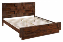 San Diego King Size Bed, Brown Wood
