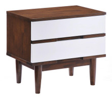 LA Night Stand, White Wood