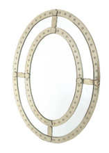 Oval Antique Trimmed Mirror , Clear Glass