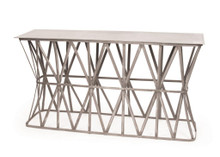 Criss Cross Console , Silver Metal