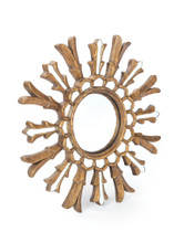 Gypsy Mirror , Brown Glass