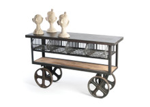 Mercato Cart , Grey Metal