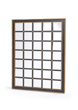 Grid Mirror , Black Wood