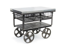 Factory Station Cart , Black Metal