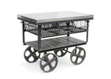Factory Station Cart , Black Metal