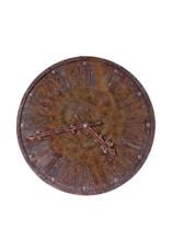 Decorative Station Clock , Brown Metal