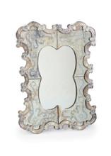 Bella Venetian Mirror , Silver Metal
