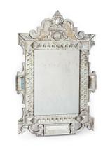Piazza Mirror , Silver Metal