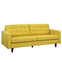Empress Upholstered Sofa, Yellow Fabric
