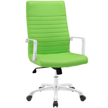 Finesse Highback Office Chair, Green Faux Leather