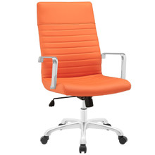 Finesse Highback Office Chair, Orange Faux Leather