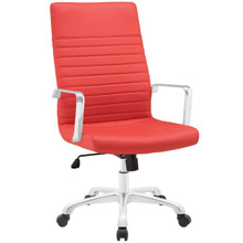 Finesse Highback Office Chair, Red Faux Leather