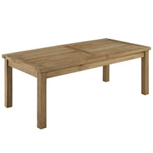 Marina Outdoor Patio Teak Rectangle Coffee Table, Brown Wood