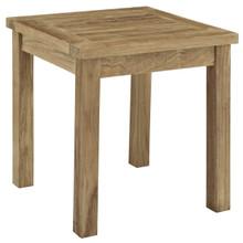 Marina Outdoor Patio Teak Side Table, Brown Wood