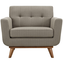Engage Upholstered Armchair, Granite Grey Fabric