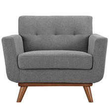 Engage Upholstered Armchair, Grey Fabric
