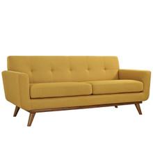 Engage Upholstered Loveseat, Orange Fabric