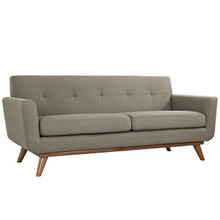Engage Upholstered Loveseat, Granite Grey Fabric
