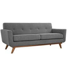 Engage Upholstered Loveseat, Grey Fabric