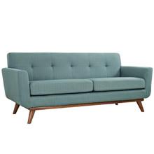 Engage Upholstered Loveseat, Blue Fabric
