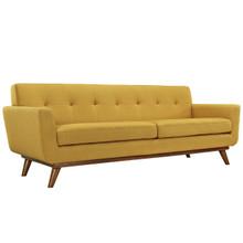 Engage Upholstered Sofa, Orange Fabric