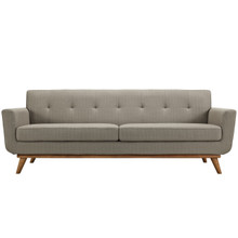 Engage Upholstered Sofa, Granite Grey Fabric