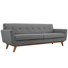 Engage Upholstered Sofa, Grey Fabric