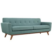 Engage Upholstered Sofa, Blue Fabric