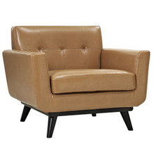 Engage Leather Armchair, Brown