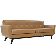 Engage Leather Sofa, Brown
