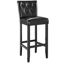 Tender Bar Stool, Black Faux Leather