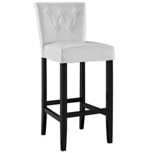 Tender Bar Stool, White Faux Leather