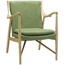 Makeshift Upholstered Lounge Chair, Green Fabric